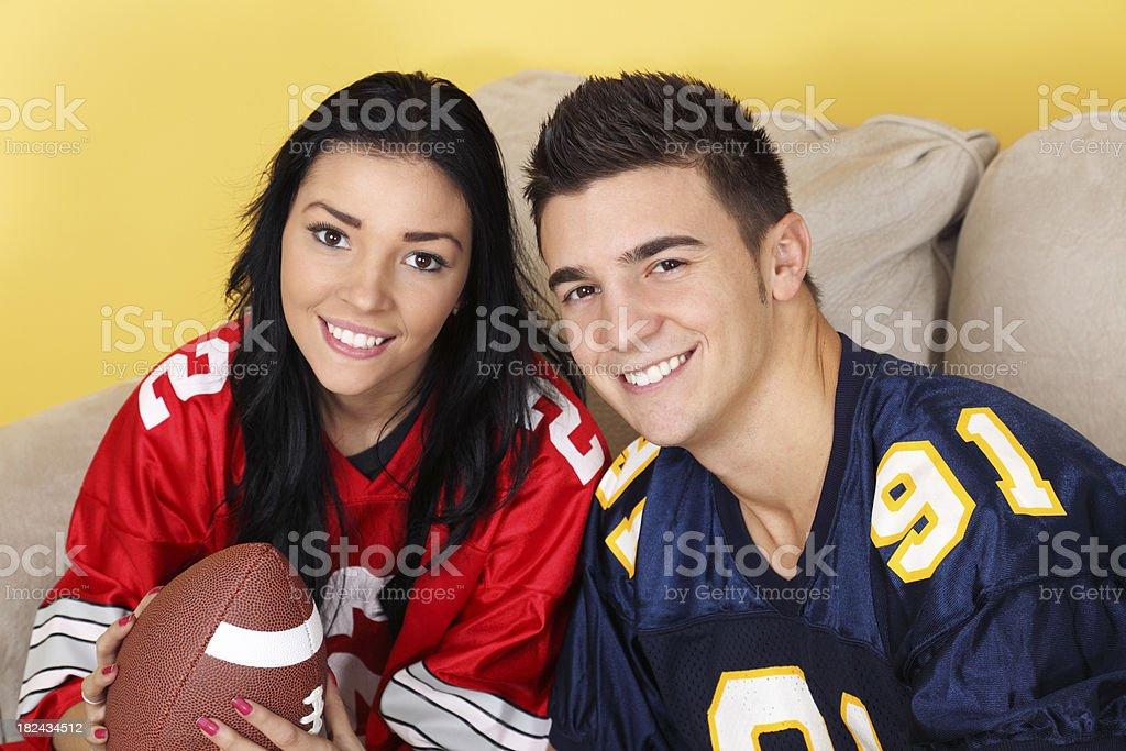 Football Couple royalty-free stock photo