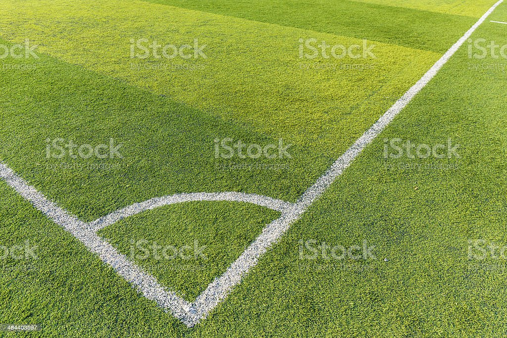 Football court grass stock photo