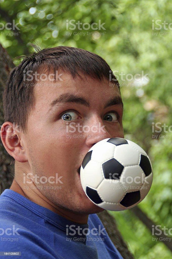 Football Crazy royalty-free stock photo