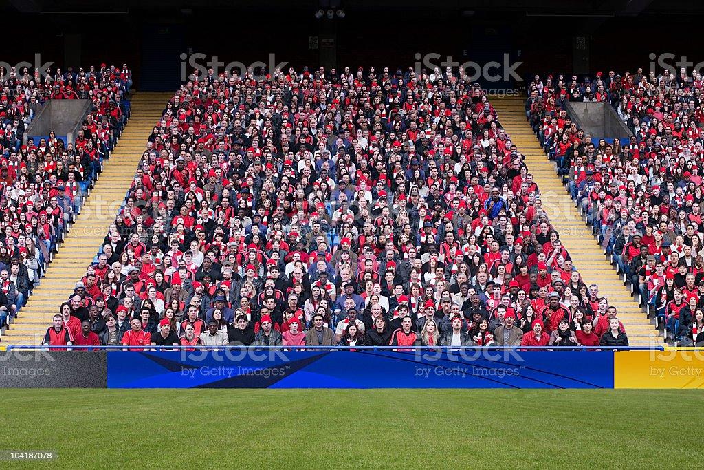 Football crowd in stadium stock photo