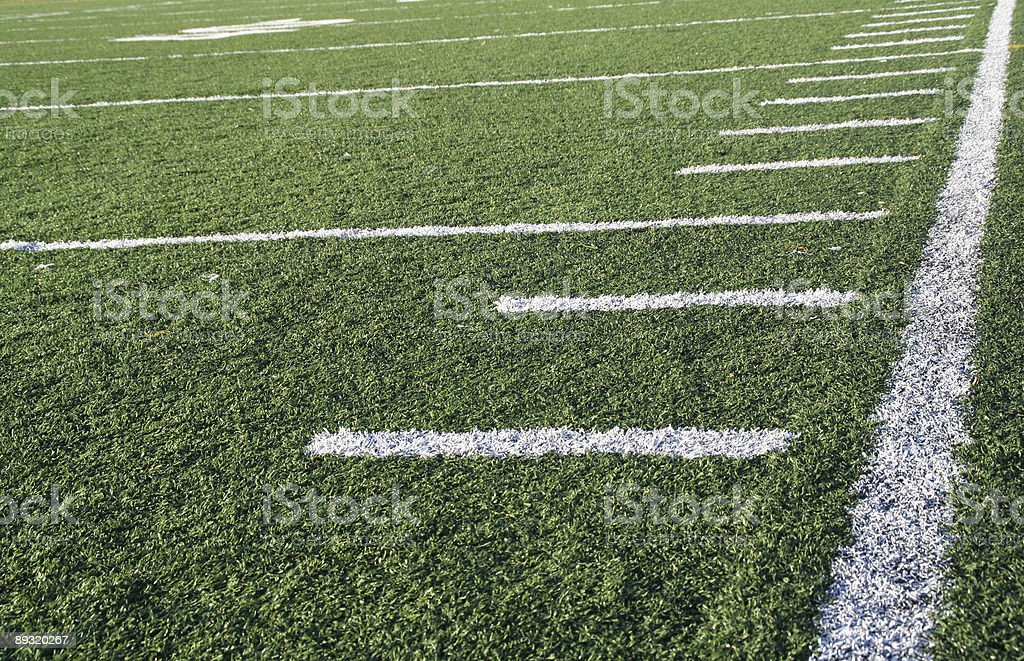 football down the sideline stock photo