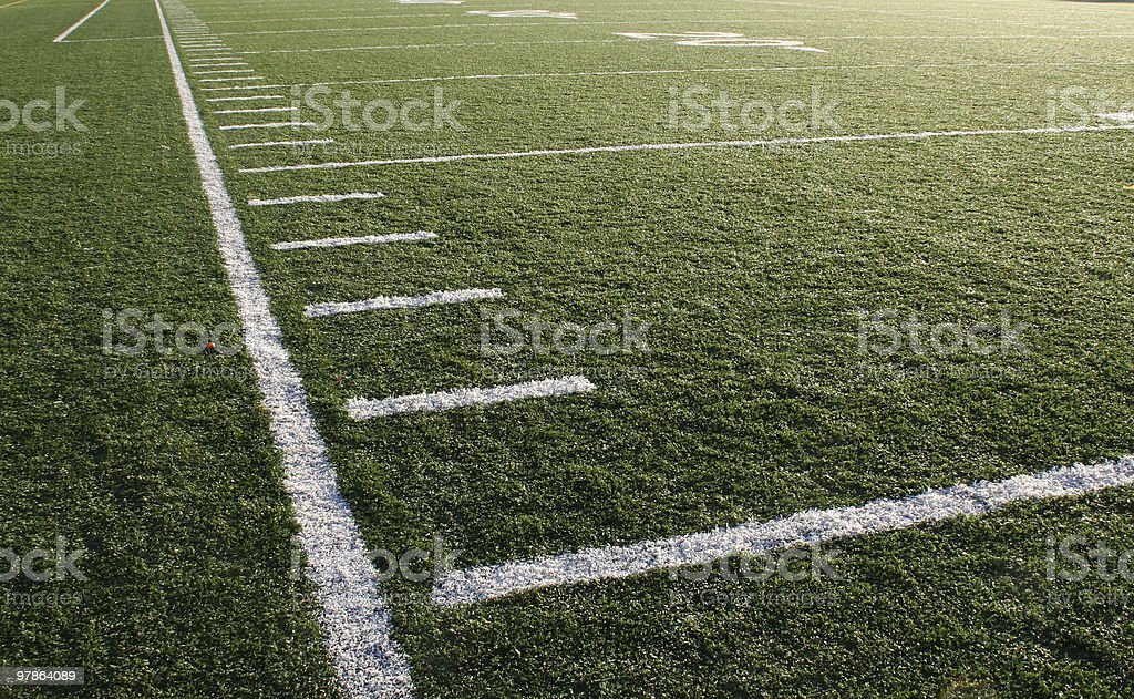 football - down the sideline stock photo