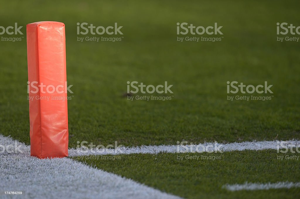 Football End Zone marker stock photo