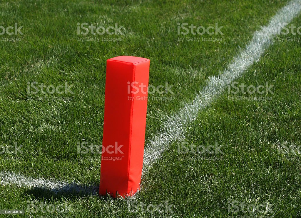 Football Endzone Marker royalty-free stock photo