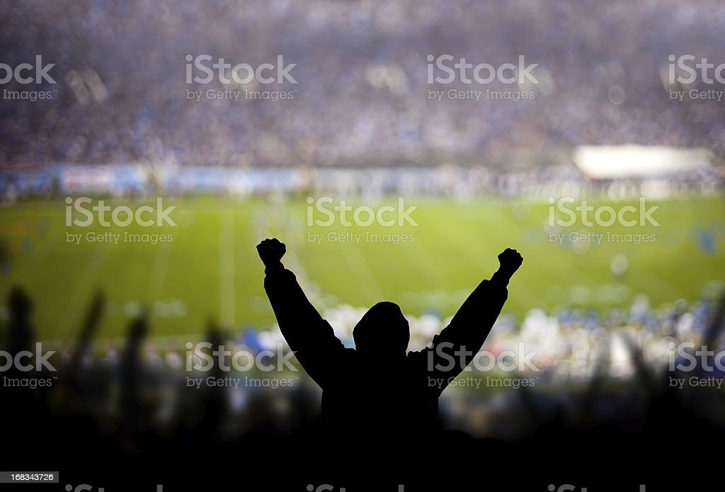 Football Excitement royalty-free stock photo