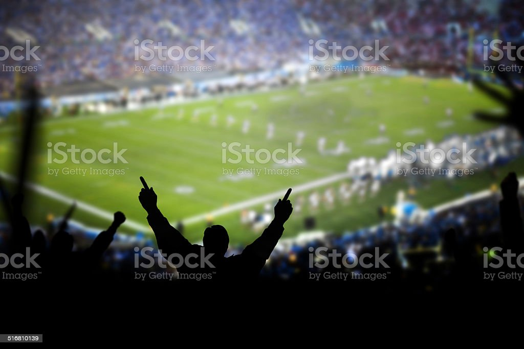 Football Excitement stock photo