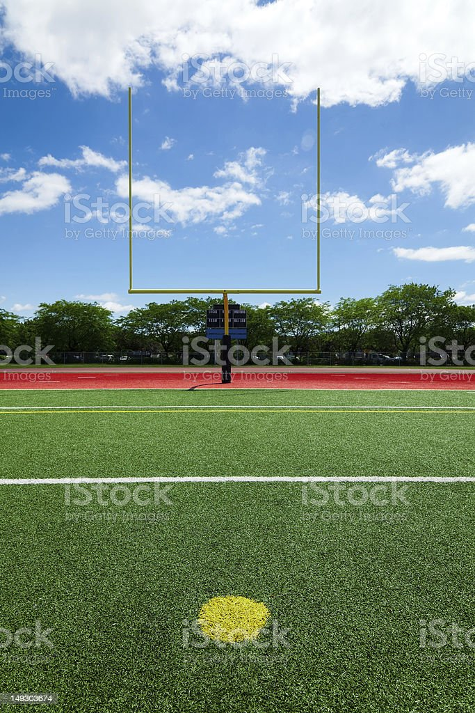 Football extra point stock photo