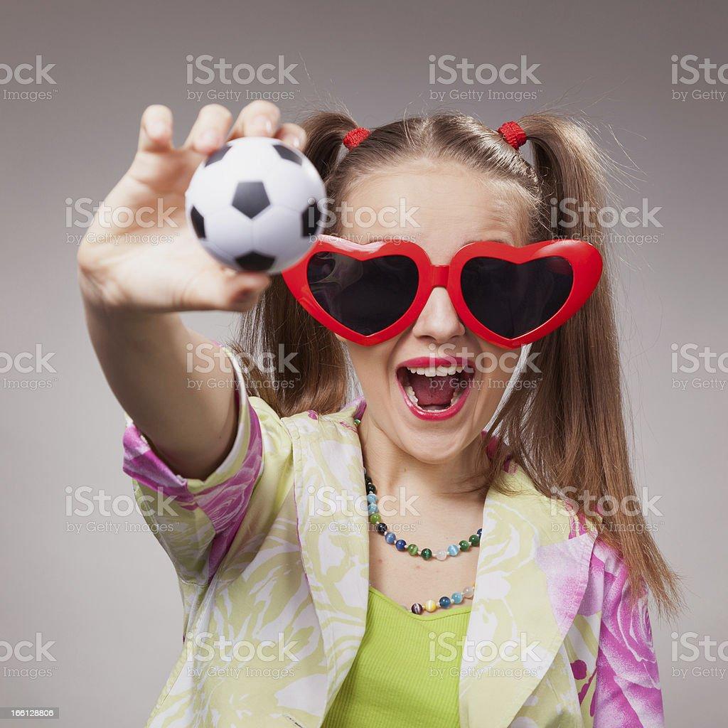 football fan beautiful young girl royalty-free stock photo