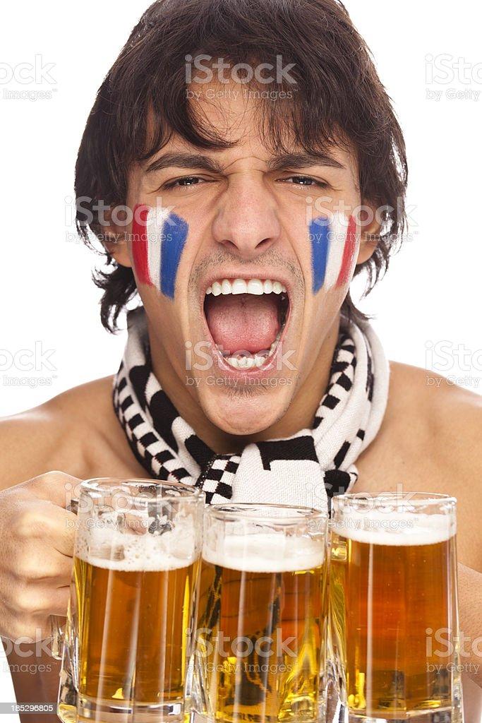 Football fan royalty-free stock photo