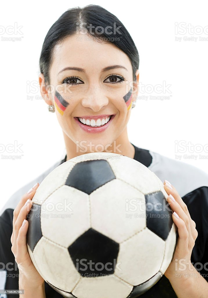 Football fan supporting Germany royalty-free stock photo