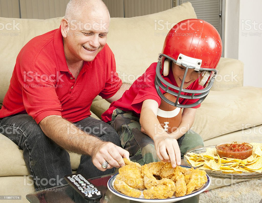 Football Fans and Snacks royalty-free stock photo