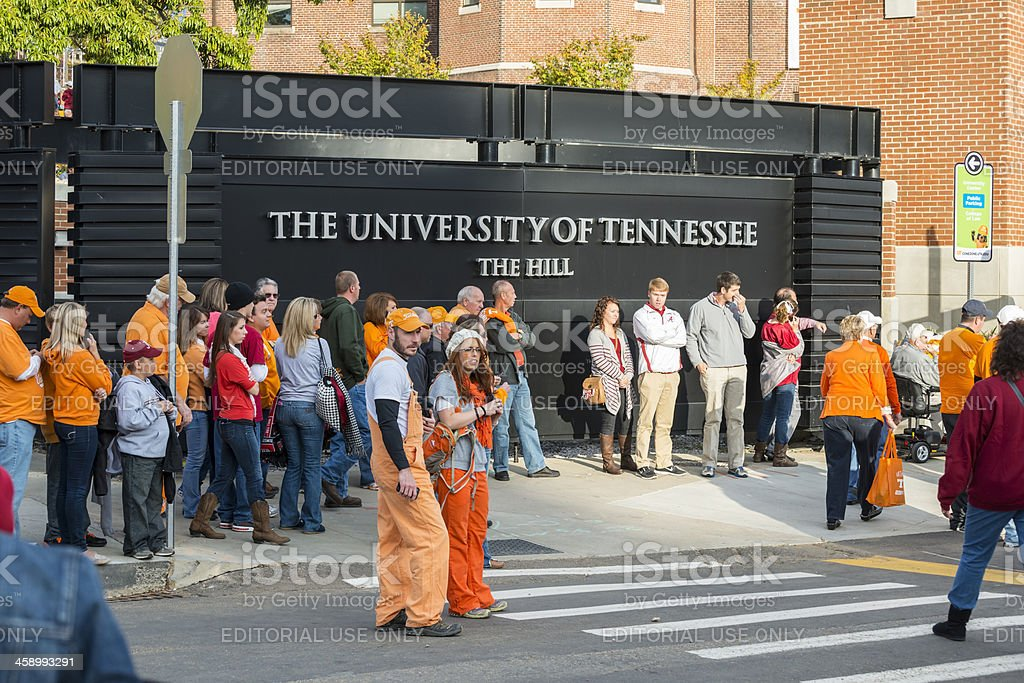 University of Tennessee campus life stock photo