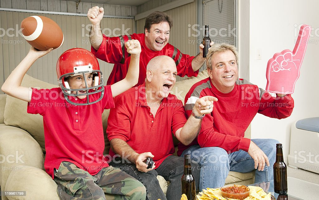 Football Fans - Touch Down royalty-free stock photo