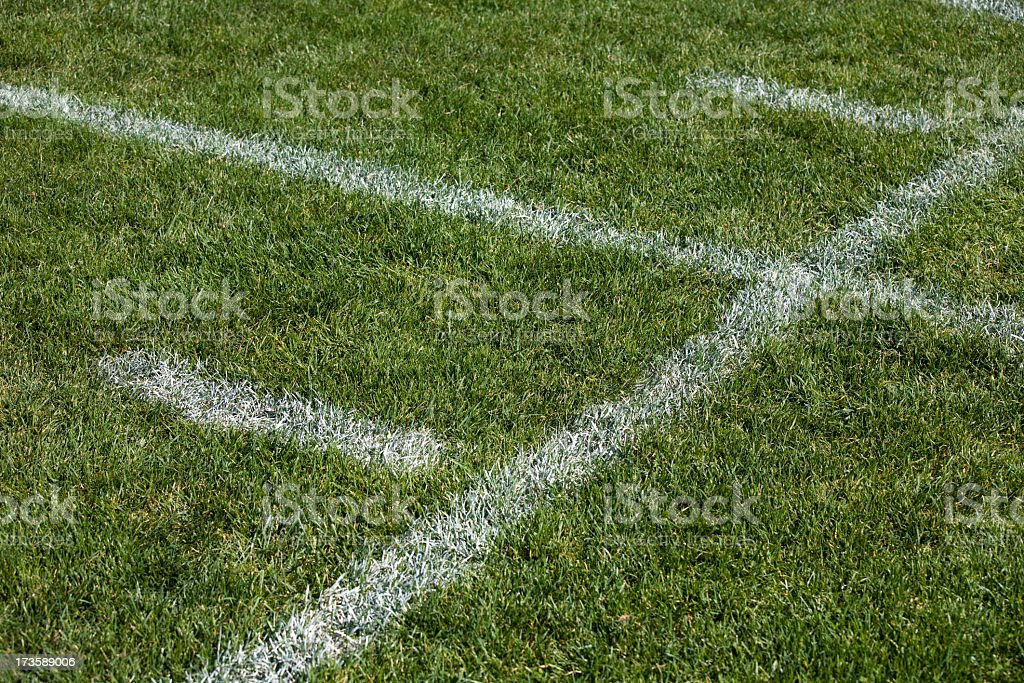 Football field and line markings royalty-free stock photo