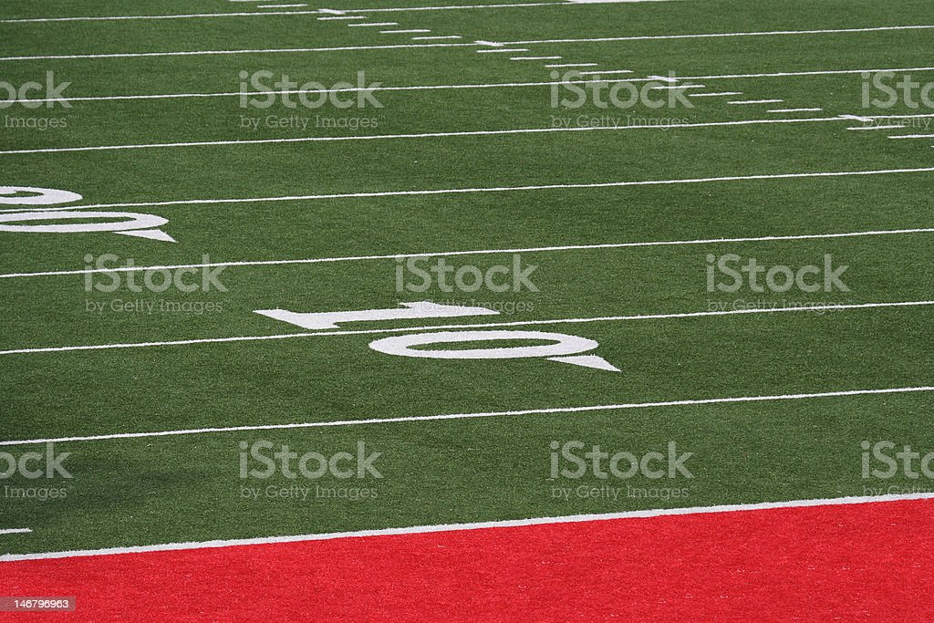 football field and yard lines royalty-free stock photo