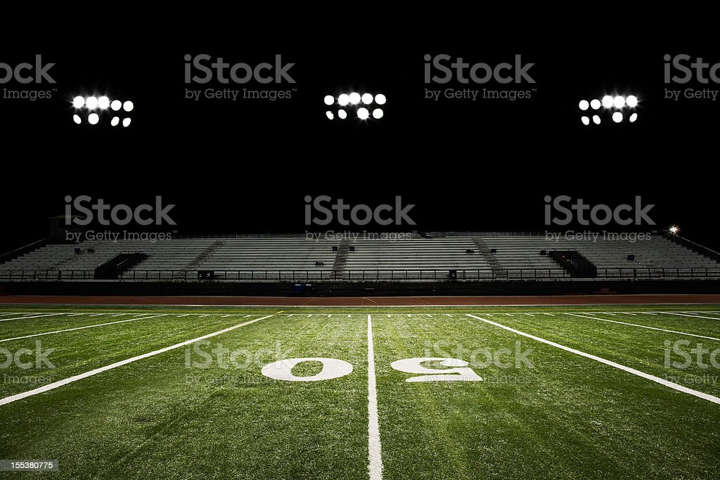 Football Field at Night royalty-free stock photo