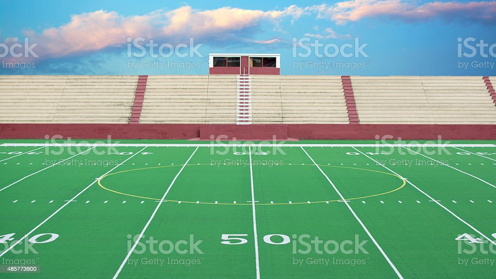 Football field background stock photo