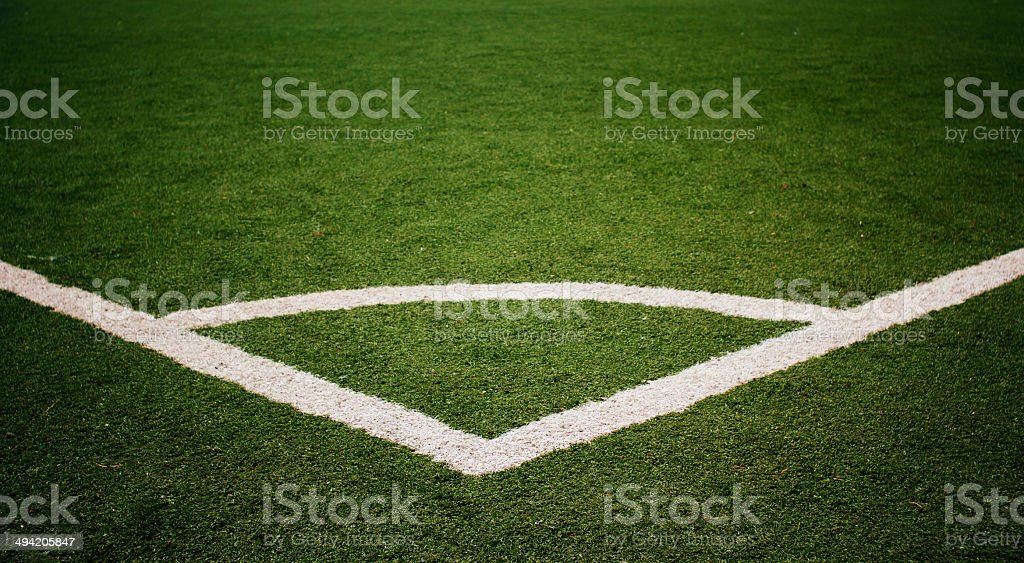 Football  field corner stock photo