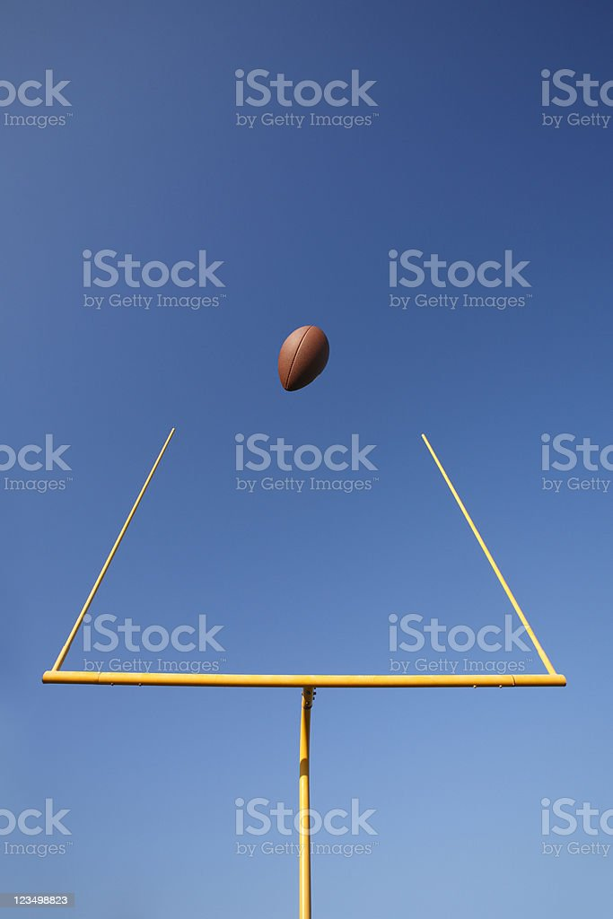 Football Field Goal royalty-free stock photo