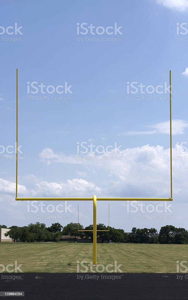 Football Field Goal Posts stock photo