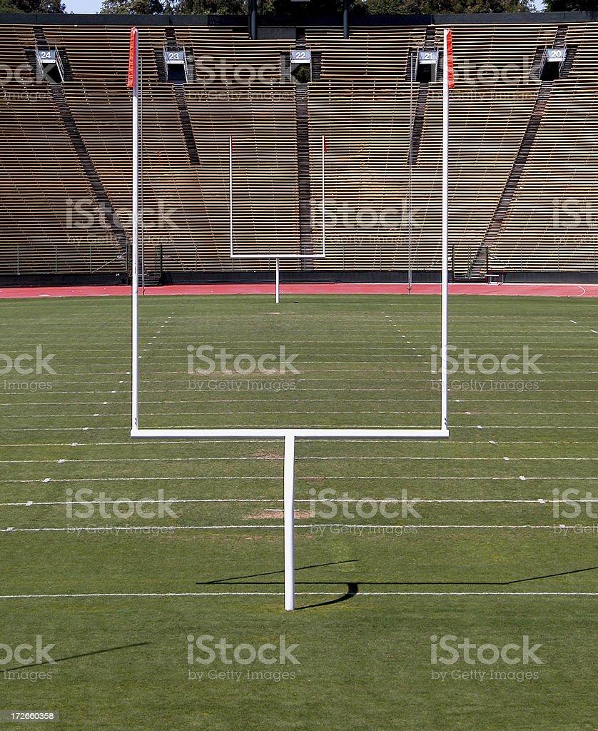 Campo da Football americano obiettivo post foto stock royalty-free