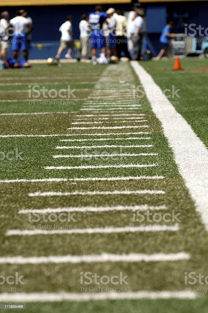 Football Field Hash Marks stock photo