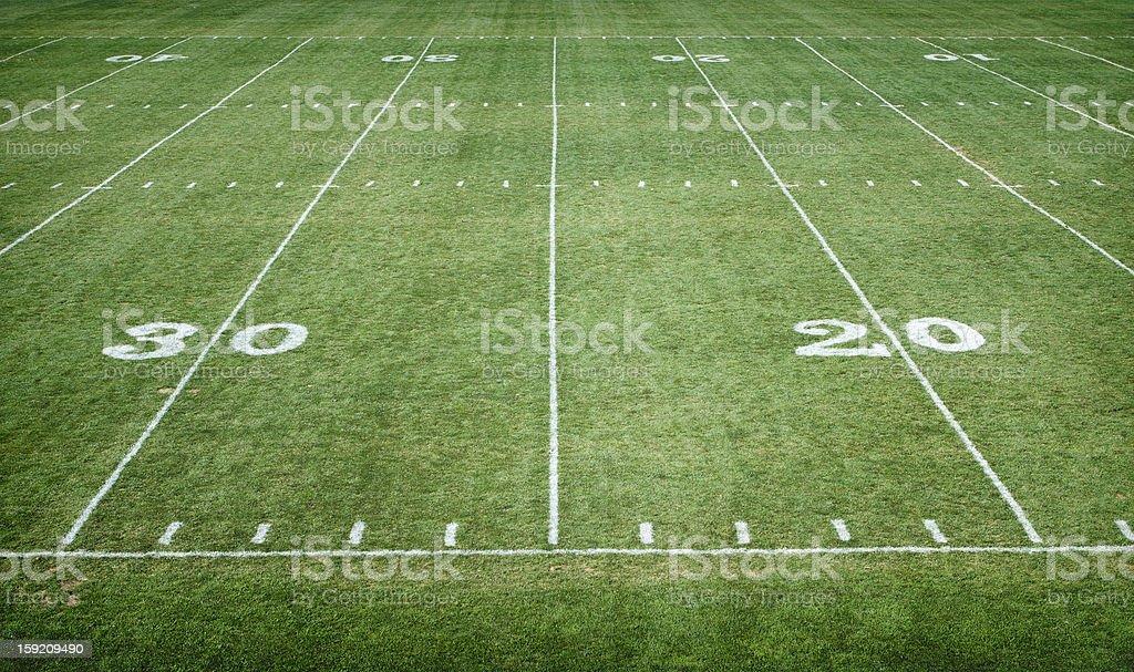 Football Field Horizontal royalty-free stock photo