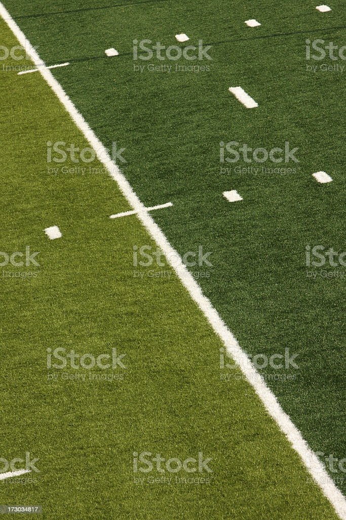Football field markers stock photo