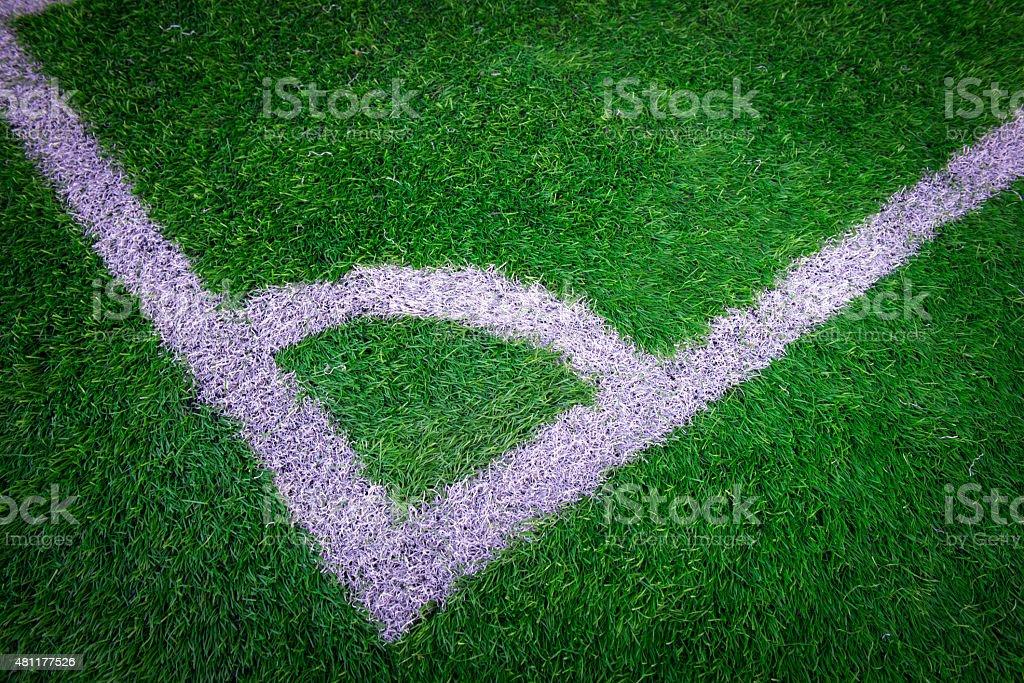 Football (Soccer) field stock photo