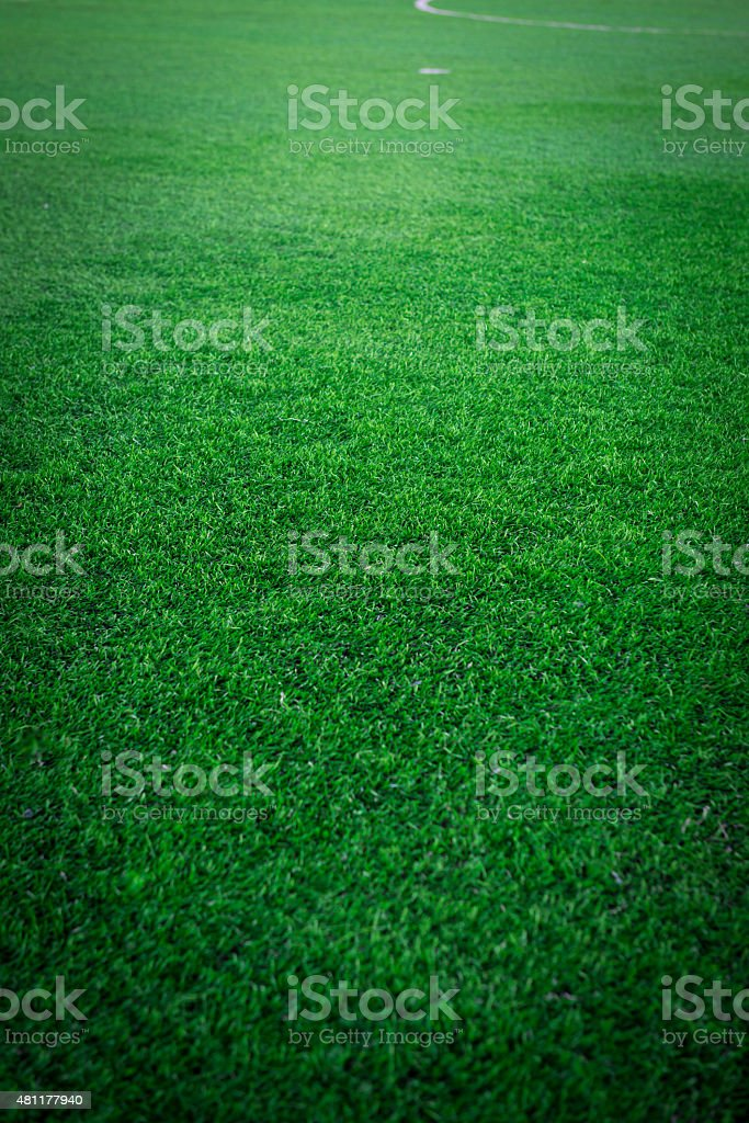 Football (Soccer) field stock photo
