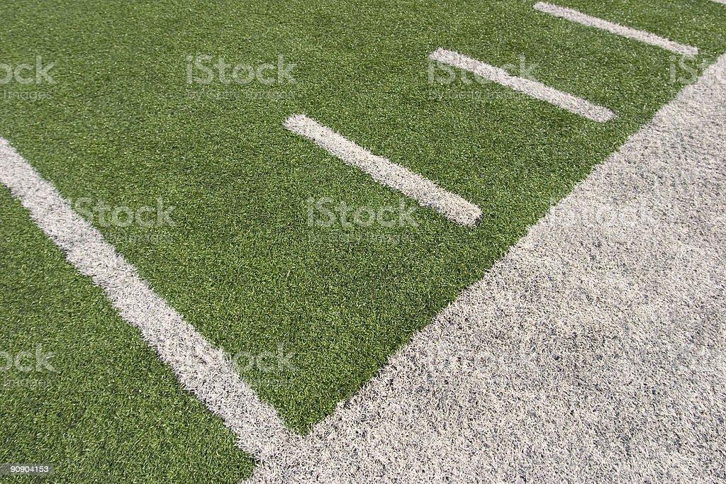 Football Field Sidelines stock photo