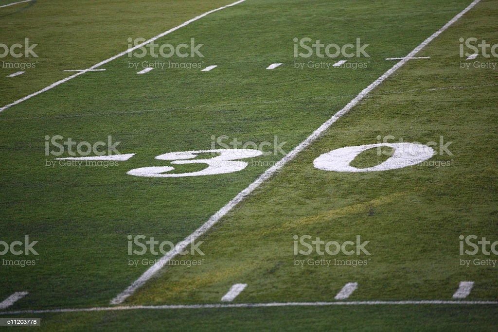 Football Field Yard Marker stock photo