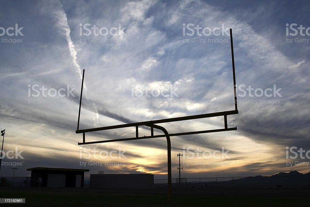 football fieldgoal stock photo