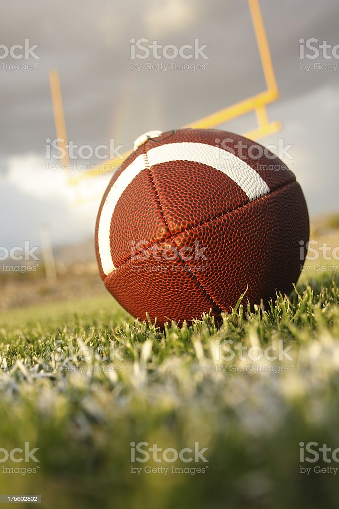 football fieldgoal vertical royalty-free stock photo
