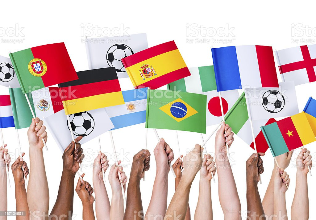 Football Flags royalty-free stock photo