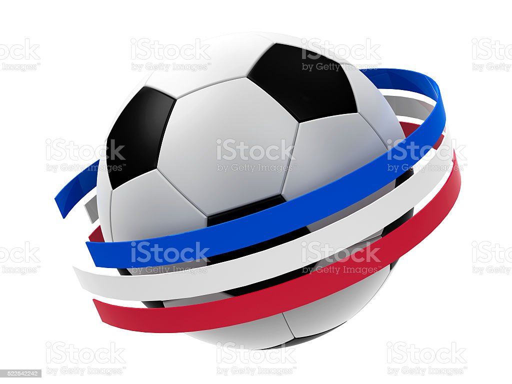 Football France 2016 with stripes stock photo