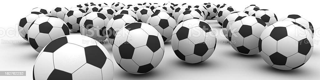 Football frenzy stock photo