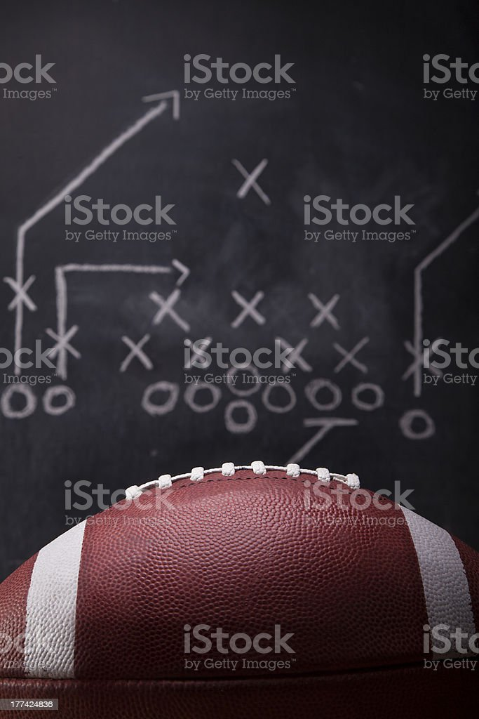 Football Game Plan stock photo