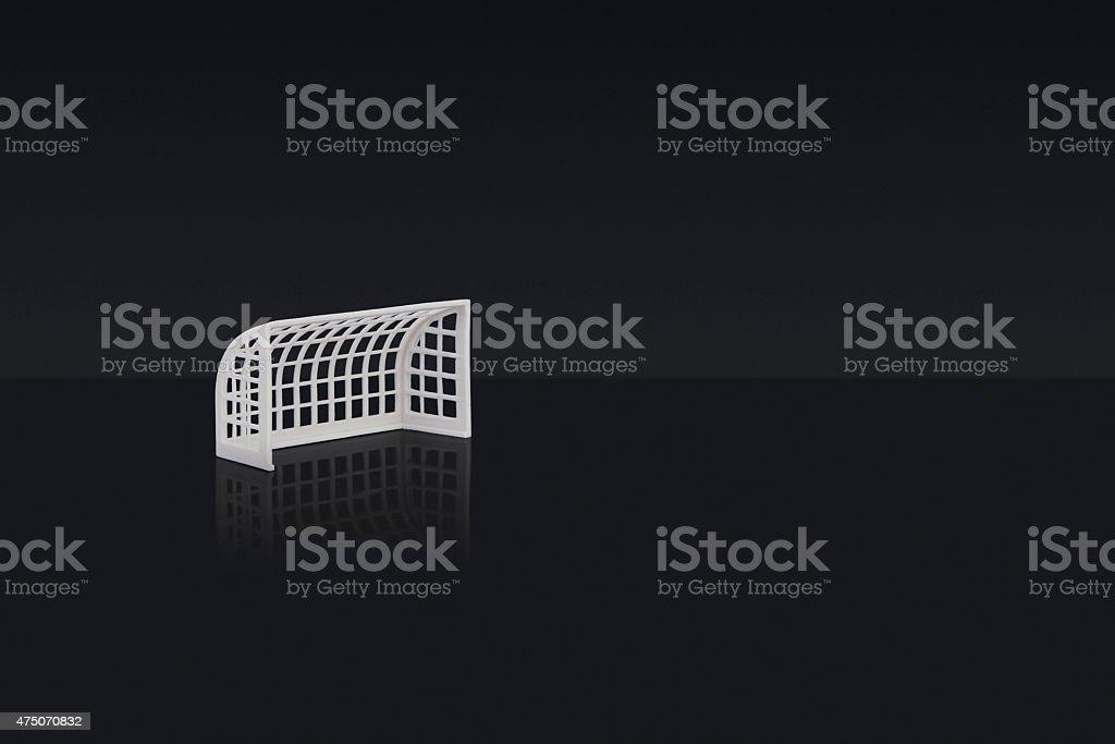 football goal stock photo