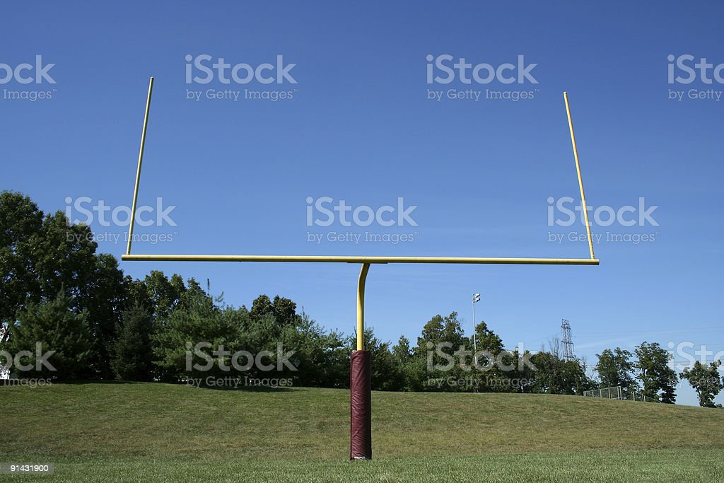 Football Goal Post royalty-free stock photo
