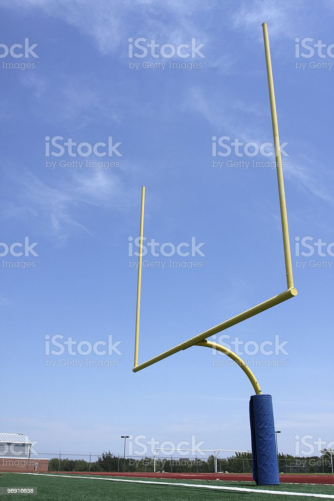 Football Goal Posts stock photo