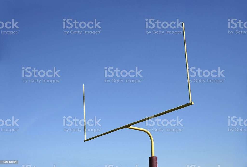 Football Goalpost stock photo