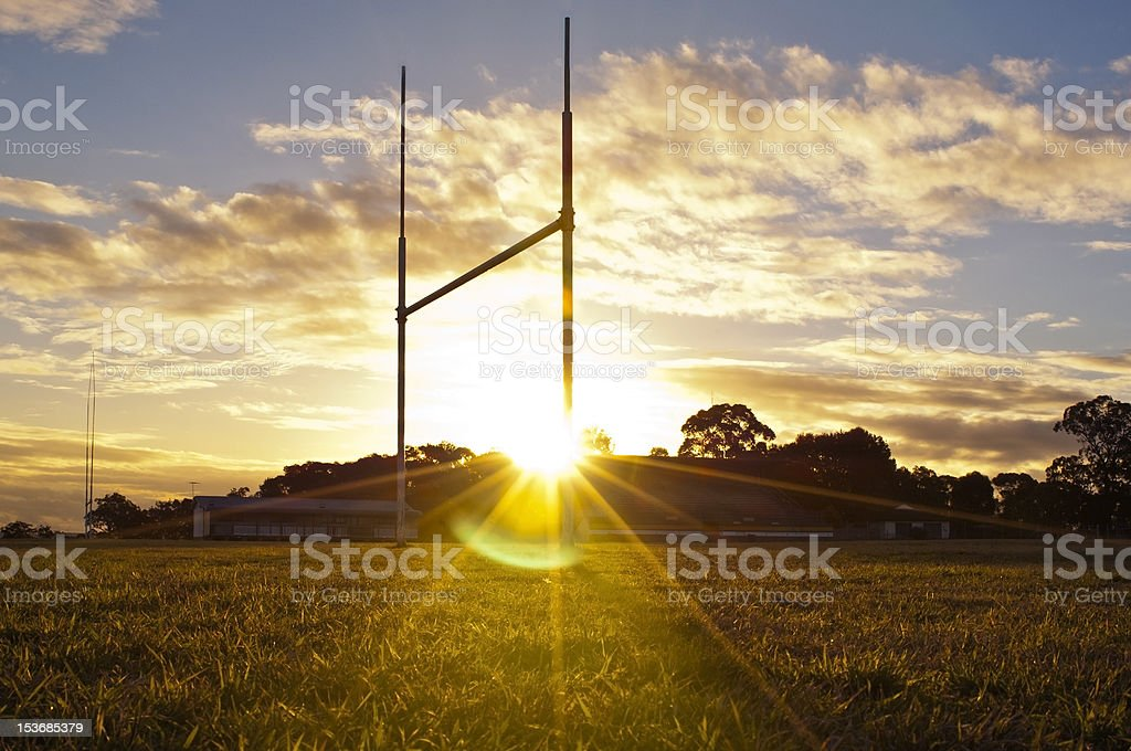 Football Goals stock photo