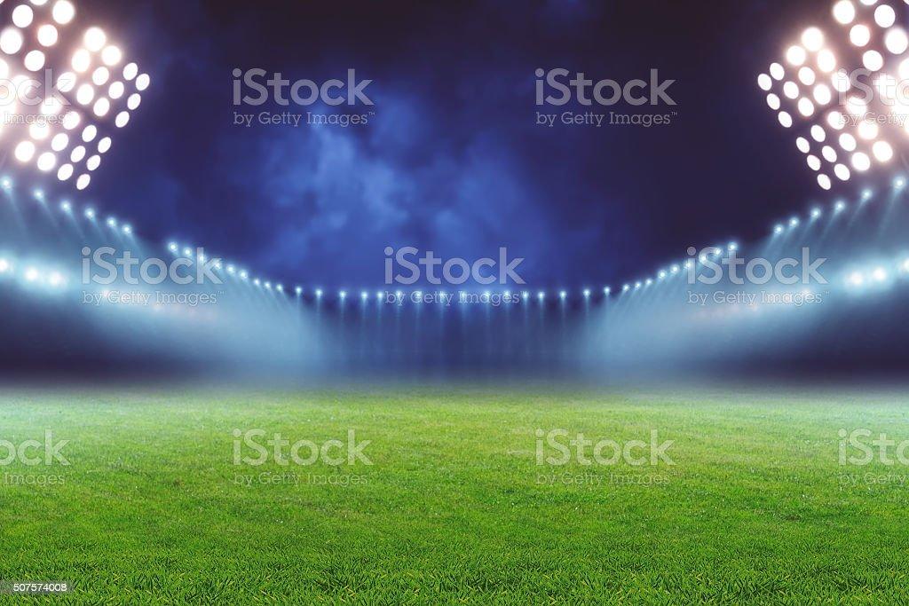 Football ground stock photo