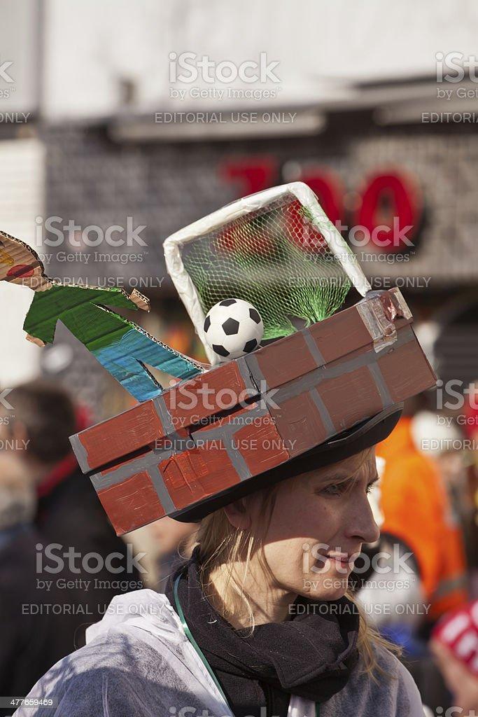 Football hat royalty-free stock photo