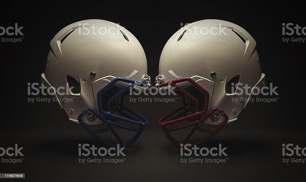 football helmet clash stock photo