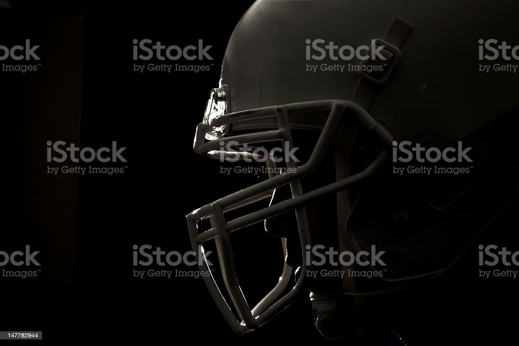 Football helmet closeup 01 stock photo
