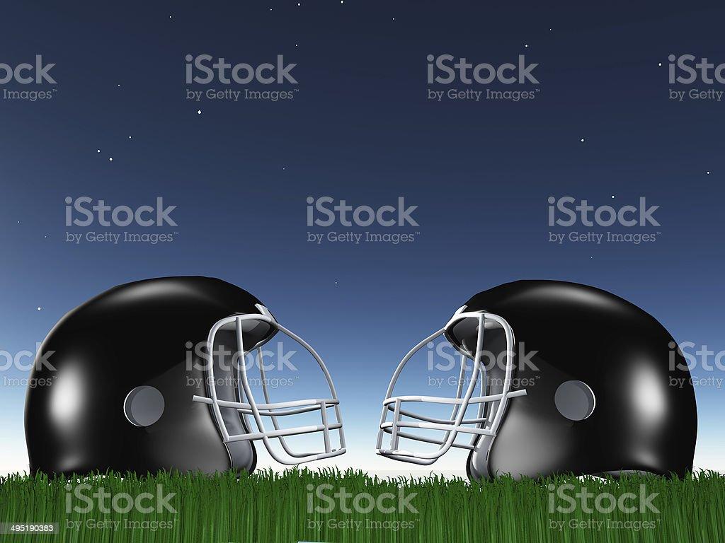 Football Helmet Composition stock photo