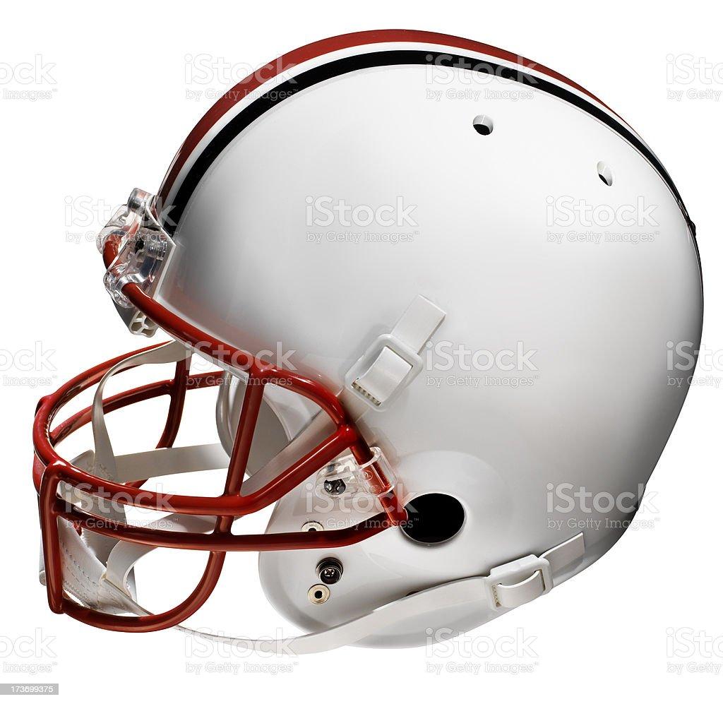 Football helmet, Isolated on white royalty-free stock photo