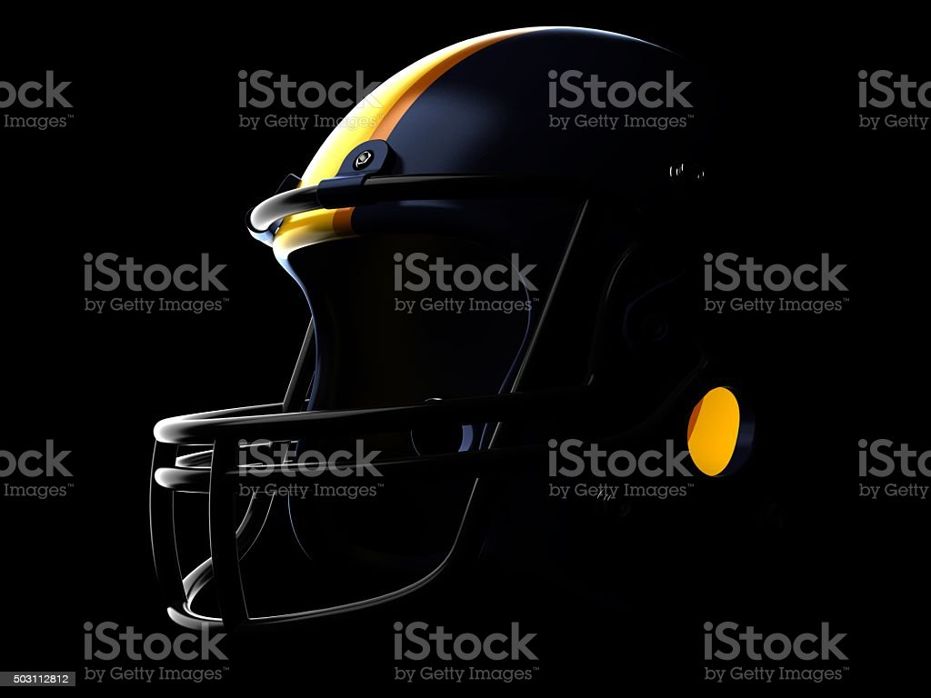 Football helmet stock photo